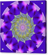 Purple Morning Glory Kaleidoscope Acrylic Print