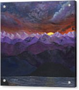 Purple Mountain Sunset Acrylic Print