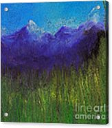 Purple Mountains By Jrr Acrylic Print