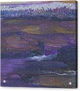 Purple Ocean Acrylic Print