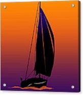 Purple On Orange Sailing Acrylic Print