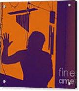 Purple Orange Figure Shadow Acrylic Print