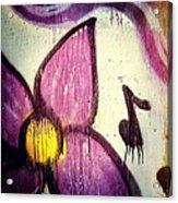 Purple Paint One Acrylic Print