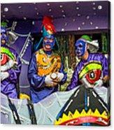Purple Party People Acrylic Print