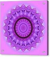 Purple Pink Kaleidoscope Acrylic Print