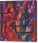 Purple Prayer Acrylic Print by Beena Samuel