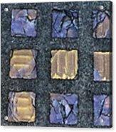 Purple Prism Glass In A Square Acrylic Print