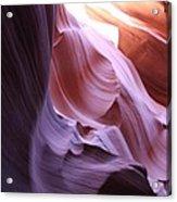 Purple Sandstone Acrylic Print