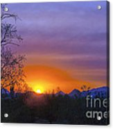 Purple Setting Sun Acrylic Print