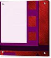 Purple Shutters Acrylic Print