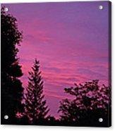 Purple Sky At Night Acrylic Print