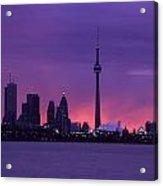 Purple Skyline Acrylic Print