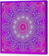Purple Space Flower Acrylic Print