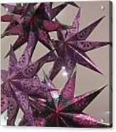 Purple Star Acrylic Print