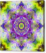 Purple Star Yantra Mandala Acrylic Print
