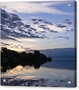 Purple Sunrise Clouds Acrylic Print