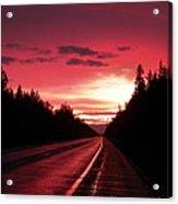 Purple Sunset Acrylic Print by Jennifer Kimberly