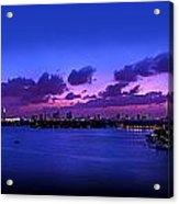 Purple Sunset Acrylic Print by Michael Guirguis