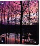 Purple Sunset On Smith Mt. Lake Acrylic Print