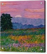 Purple Sunset On The Blue Ridge Acrylic Print