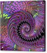 Purple Swirl Acrylic Print