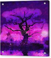 Purple Tree Of Life Acrylic Print