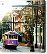 Purple Trolley Acrylic Print