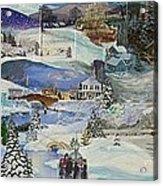 Purple Twilight on Snow- SOLD Acrylic Print