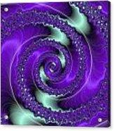 Purple Vortex Acrylic Print