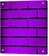Purple Wall Acrylic Print by Semmick Photo