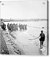 Purse Seining For Shad Delaware River C 1895 Acrylic Print