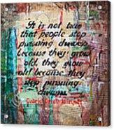Pursuing Dreams Acrylic Print