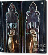 Push And Pull Acrylic Print
