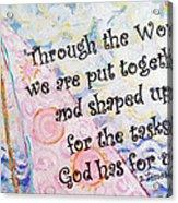 Put Together Acrylic Print