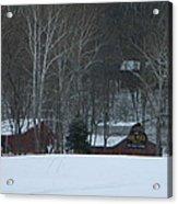 Putnam County Farm in Winter Acrylic Print