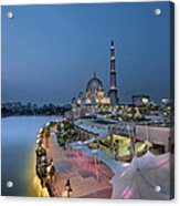 Putra Mosque At Blue Hour Acrylic Print