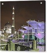 Putra Mosque At Night Acrylic Print