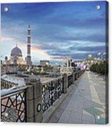 Putra Mosque At Sunset Acrylic Print