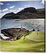 Putting Green In Paradise Acrylic Print