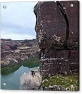 Puzzle Piece Above The Snake River Acrylic Print