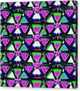 Pyramid Dome Triangle Purple Elegant Digital Graphic Signature   Art  Navinjoshi  Artist Created Ima Acrylic Print
