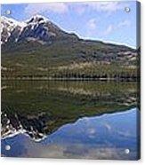 Pyramid Lake Mountain Reflections - Jasper, Alberta Acrylic Print