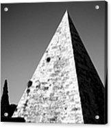 Pyramid Of Cestius Acrylic Print by Fabrizio Troiani