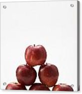 Pyramid Of Organic Apples Acrylic Print