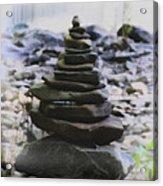 Pyramid Of Rocks Acrylic Print