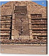 Pyramid Of The Moon Panorama Acrylic Print
