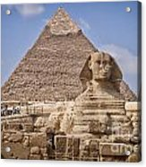 Pyramids And Sphinx In Egypt Acrylic Print