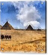 Pyramids Of Giza In Egypt Acrylic Print