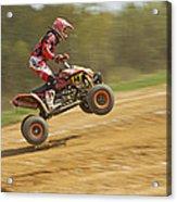 Quad Racer Jumping Acrylic Print
