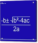 Quadratic Equation Blue-white Acrylic Print